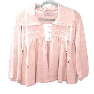 Adidas Stella McCartney Cream Button Front Jacket